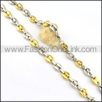 Graceful Two Tone Plated Necklace      n000185