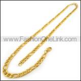 Succinct Interlocking Plated Necklace n001192