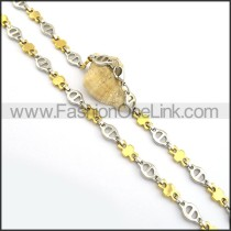 Chic Gold and Silver Plated Necklace n000771