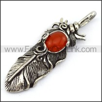 Delicate Stainless Steel Casting Pendant   p003626