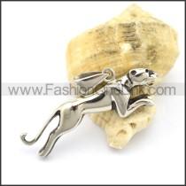 Vivid Stainless Steel Animal Pendant    p001806