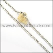 Elegant Stainless Steel Stamping Necklace n000548