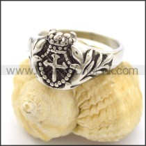 Delicate Stainless Steel Cross Ring  r001809
