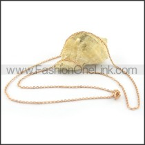 Unique Golden Plated Necklace n000653