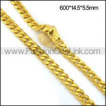 Exquisite Interlocking Plated Necklace n001088