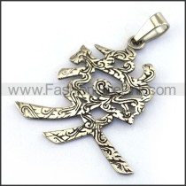 Delicate Stainless Steel Casting Pendant    p003526