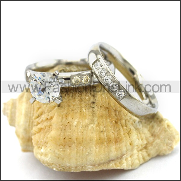 Graceful Stainless Steel Couple Rings  r002975