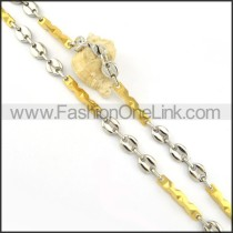 Elegant Two Tone Plated Necklace    n000176
