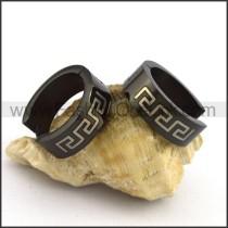 Succinct Black Plated Earrings    e001074