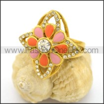 Vintage Stone Stainless Steel Ring  r002697