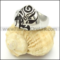 Stainless Steel Skull Ring r000435