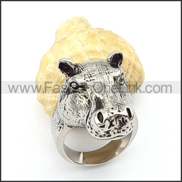 Stainless Steel The Horse Animal  Ring r000341