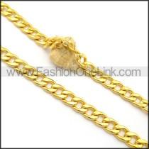 Elegant Interlocking Chain Plated Necklace n001016