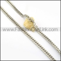 Silver Stainless Steel  Stamping Necklace     n000283