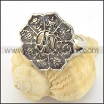 Stainless Steel Flower Ring r001412