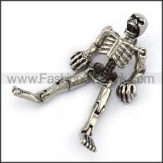 Exquisite Stainless Steel Skull Pendant  p004057