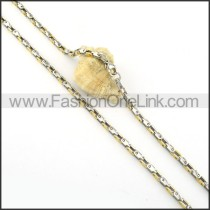 Golden and Silver Plated Necklace    n000305