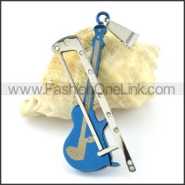Mini Fiddle Stainless Steel Pendant     p000968