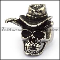 Stainless Steel Skull Ring  r003707