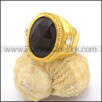 Vintage Stone Stainless Steel Ring r002731