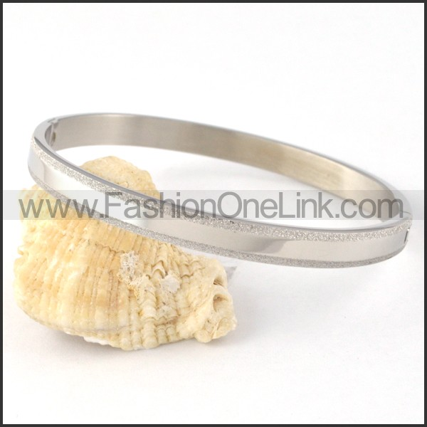Polishing Silver Couple Bangle b000423