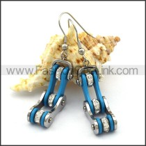 Blue Biker Earrings    e001058