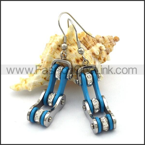 Blue Biker Earrings    e001058