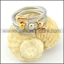 Stainless Steel Rope Ring in Silver Color r000577