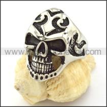 Beautiful Oxidation-resisting Steel Skull Ring r001046