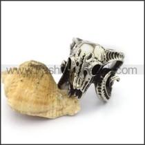 Delicate Stainless Steel Skull Ring  r003158