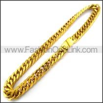 Succinct Interlocking Stamping Necklace n001228