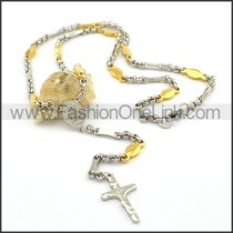 Delicate Cross Golden Plated Necklace n000805