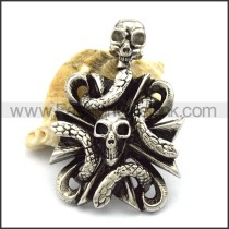 Unique Stainless Steel Skull Pendant  p001887