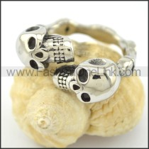 Dlicate Double Skulls Ring r001565