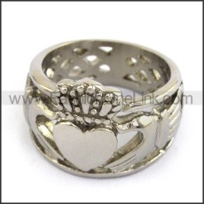 Classic Stainless Steel Ring  r003680