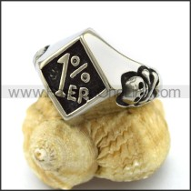 Stainless Steel Biker Ring  r003317