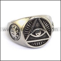 Exquisite Stainless Steel Casting Ring  r003598