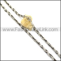 Black and Silver Plated Necklace n000819