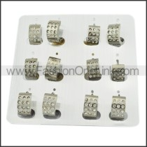 Unique Stainless Steel Cutting Earrings     e000299