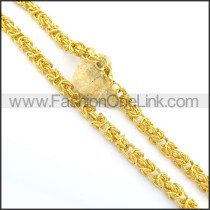 Exquisite Golden Plated Necklace n000663