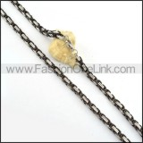Black and Silver Plated Necklace      n000155