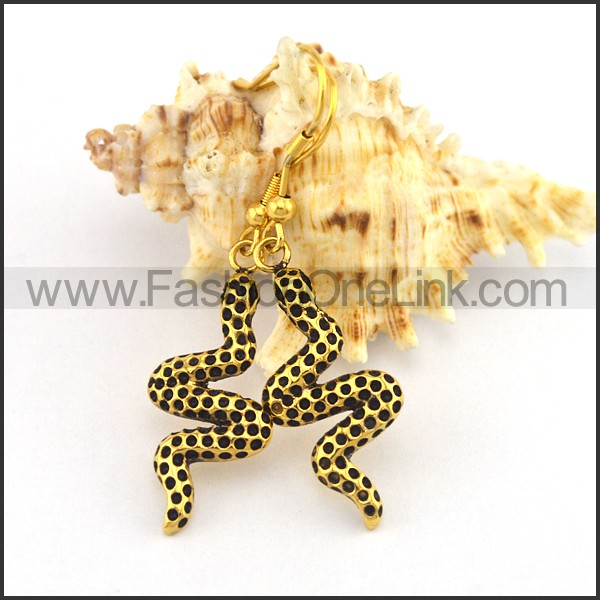 Golden Snake Earrings   e001184
