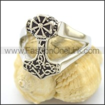Unique Stainless Steel Cross Ring  r002153
