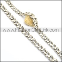 Delicate Silver Stamping Necklace n000747