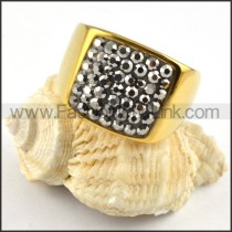 Stainless Steel Square Ring r000226