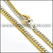 Exquisite Two Tone Plated Necklace n000700