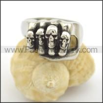 Delicate Skull Stainless Steel Ring     r002424