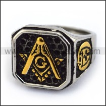 Exquisite Stainless Steel Casting Ring  r003617