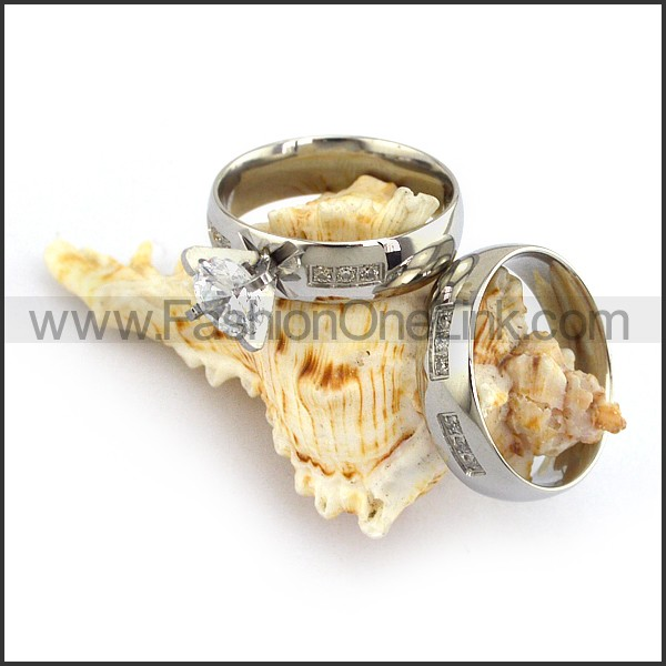 Stainless Steel Couple Rings   r003640