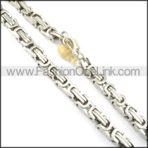 High Quality Stainless Steel Stamping Necklace n000550